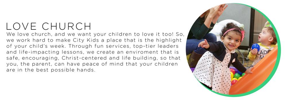 children that love church