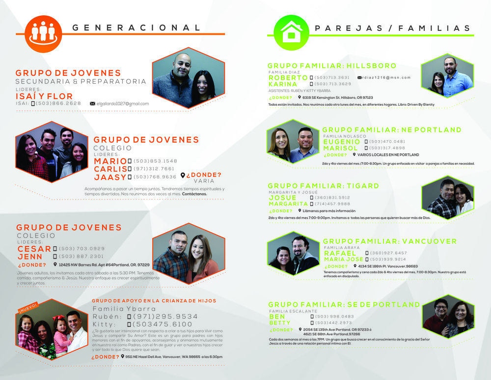 flyer for services and programs