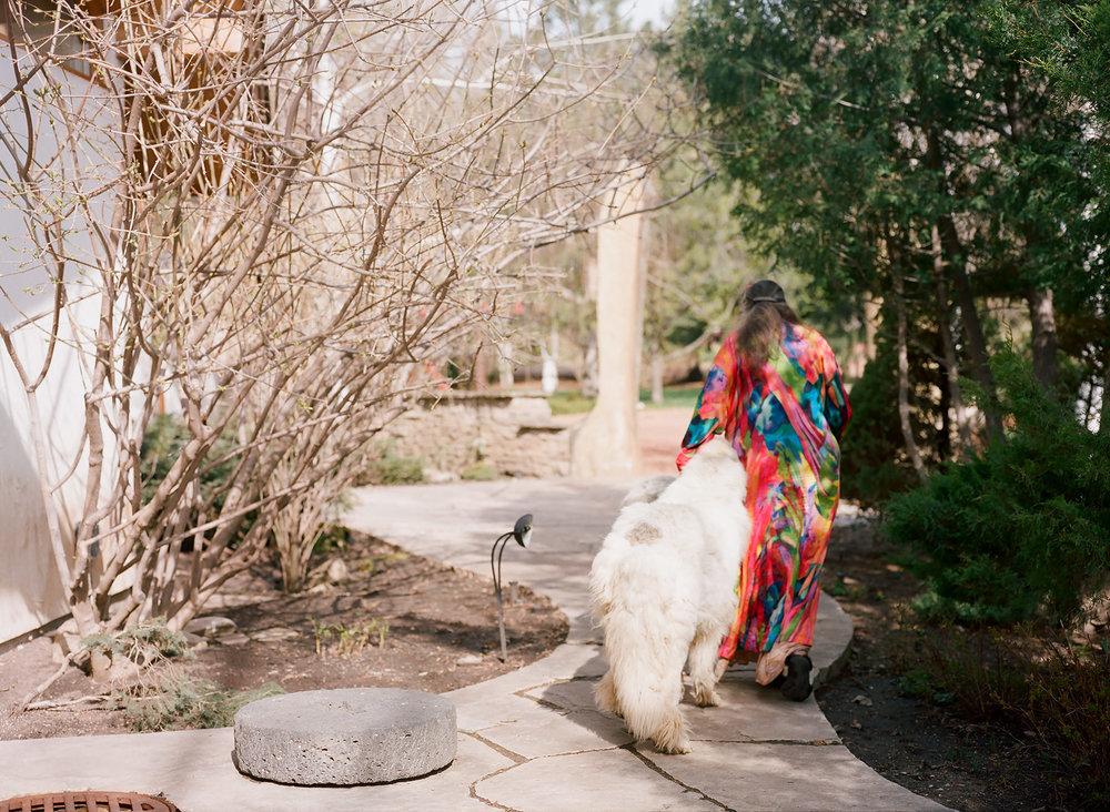 Neltje - Women in Wyoming - Walking Away with Teddy