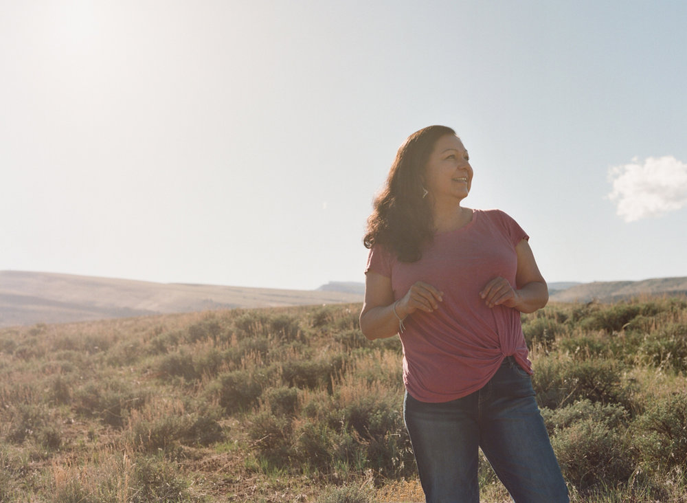 Lynette St. Clair on her homeland -- the Wind River Reservation.