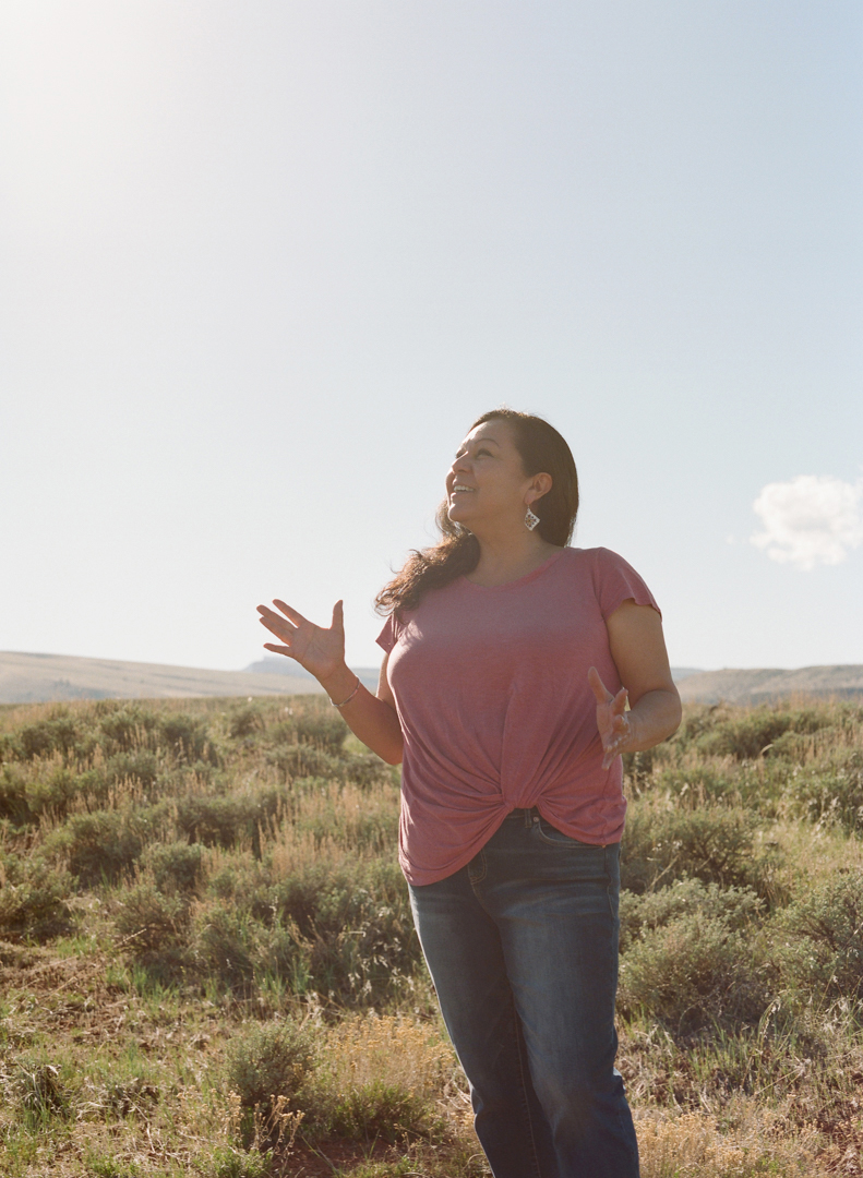 """Zahn seek dawvay."" Meaning, ""Today is a good day,"" in Shoshone. Lynette finds immense joy on her homeland, the Wind River Reservation."