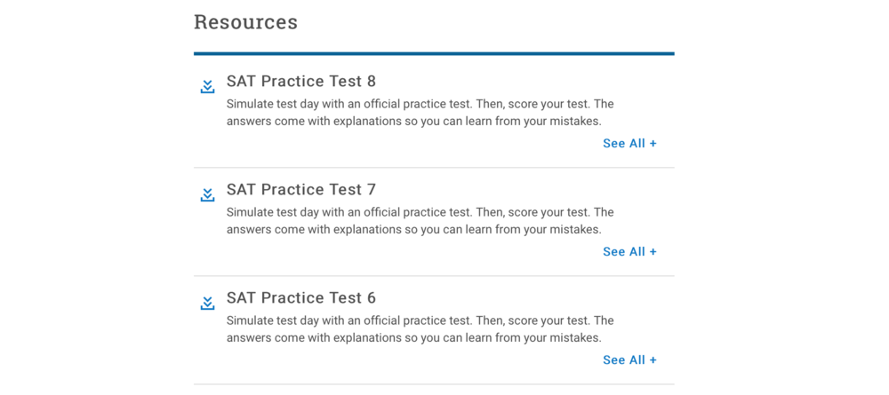 Click here for official practice SATs -