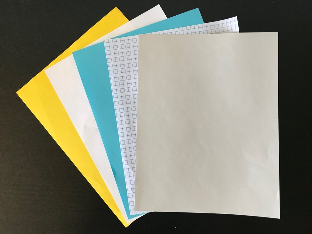 Does paper color really matter? Yup.