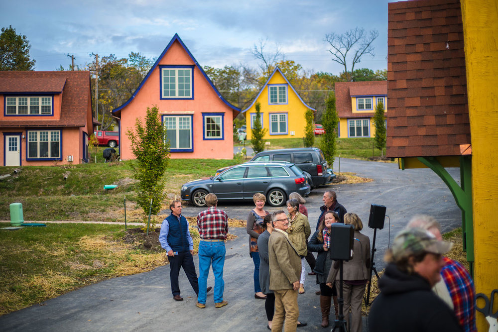 Celebrating the Finger Lakes' first-ever tiny house community at La Bourgade On Seneca's Grand Opening