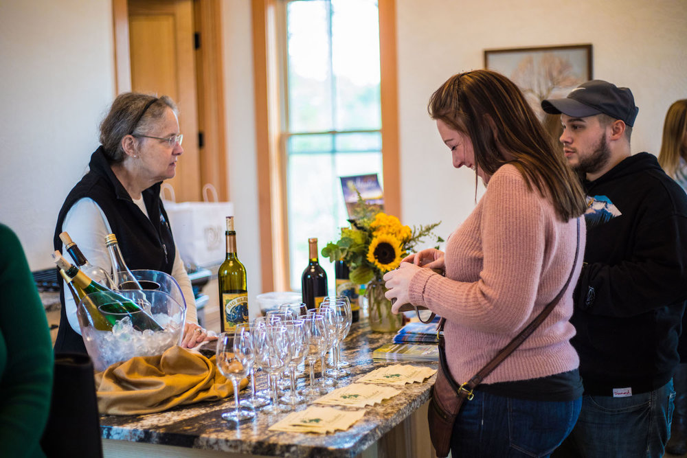 Light hors d'oeuvres and Atwater Vineyards' wine provided at La Bourgade On Seneca's Grand Opening