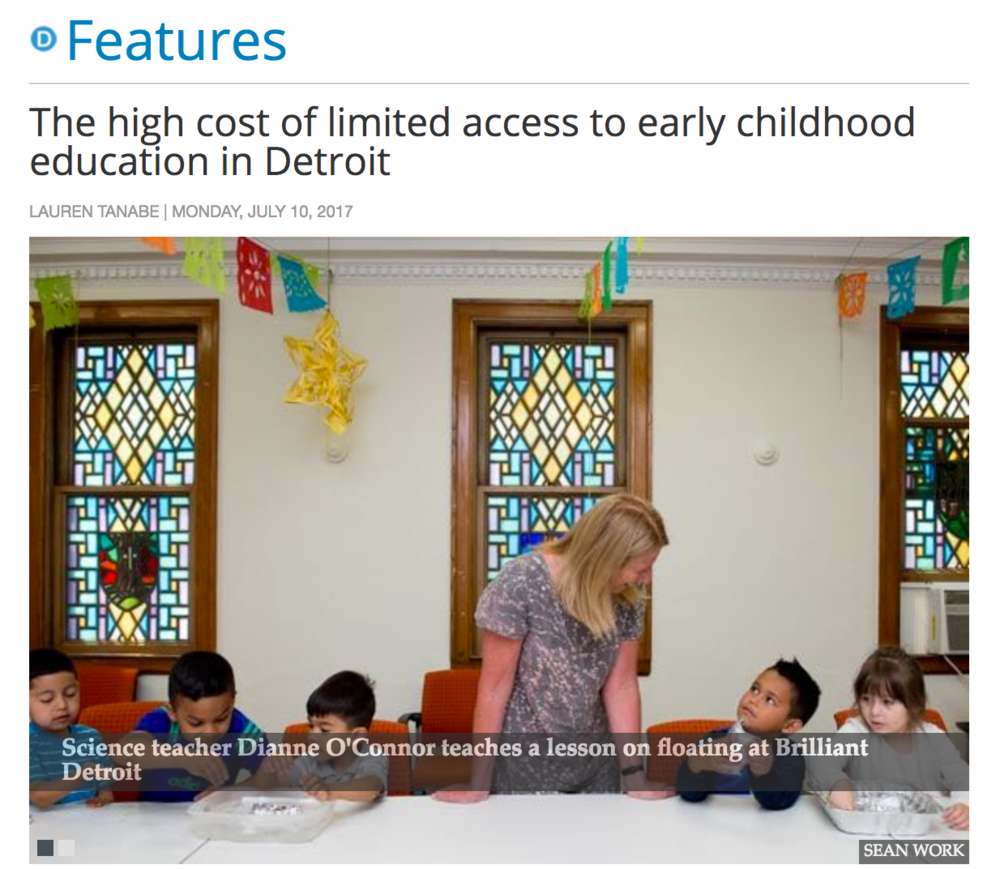 The high cost of limited access to early childhood education in Detroit, Feature Story, Model D, July 10, 2017 -