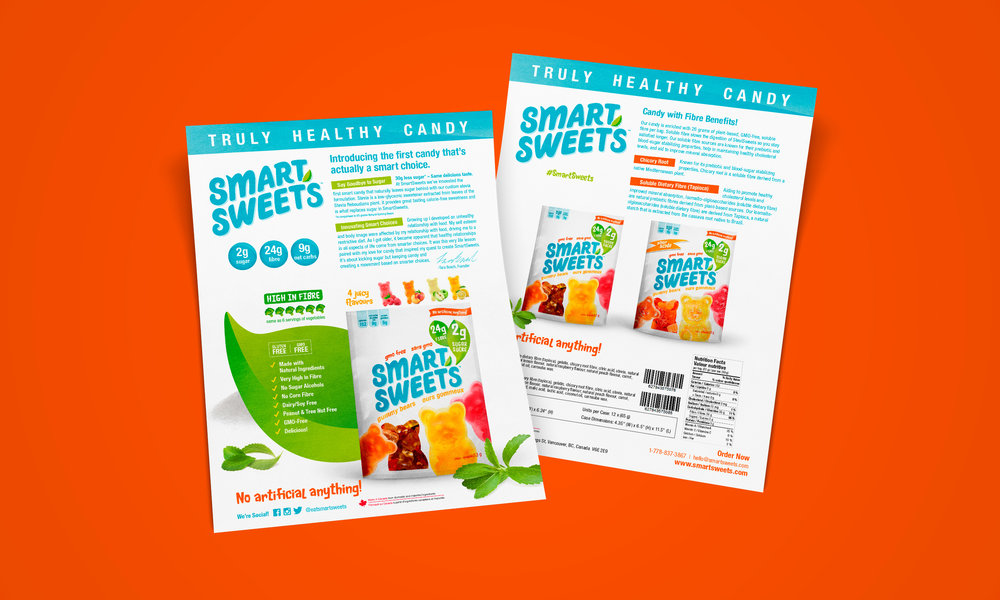 Dana Lu graphic design smartsweets retailer sell sheet