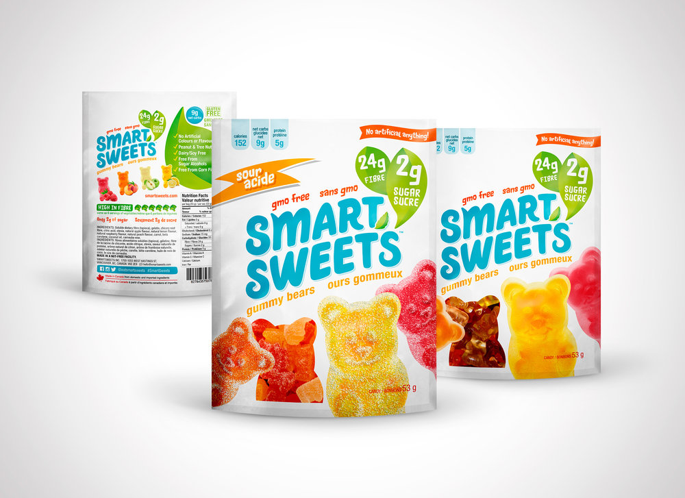 smartsweets gummy bears candy packaging
