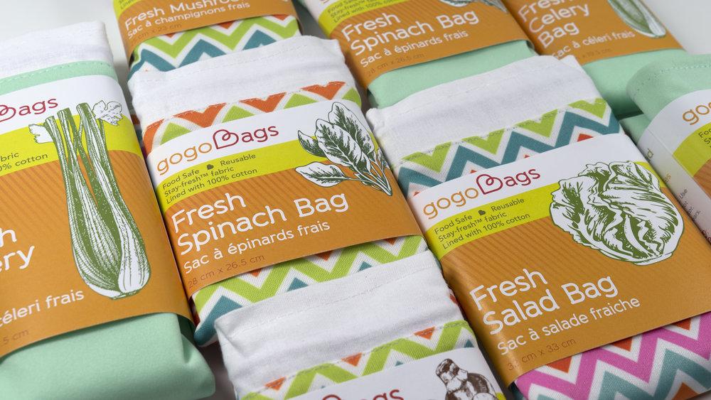 gogoBags fresh bags packaging design
