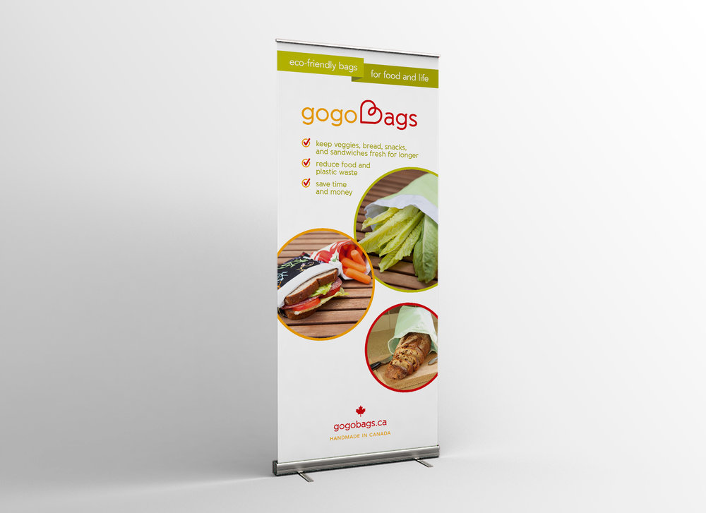 gogoBags roll up banner design