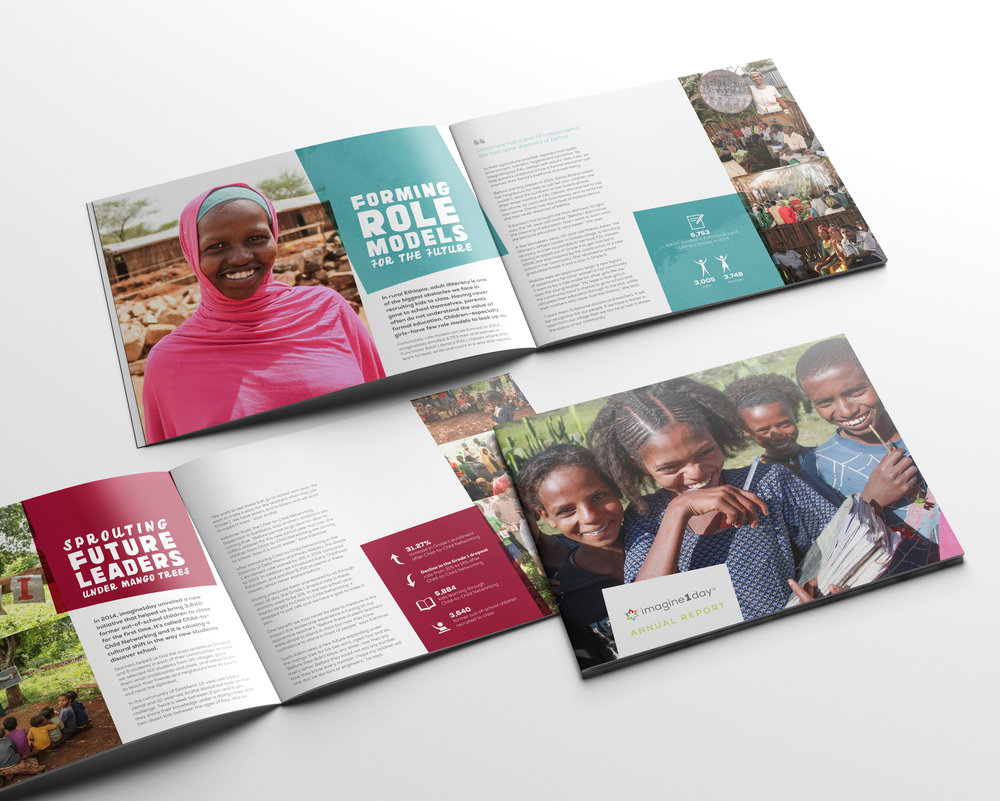Dana Lu graphic design imagine1day annual report design