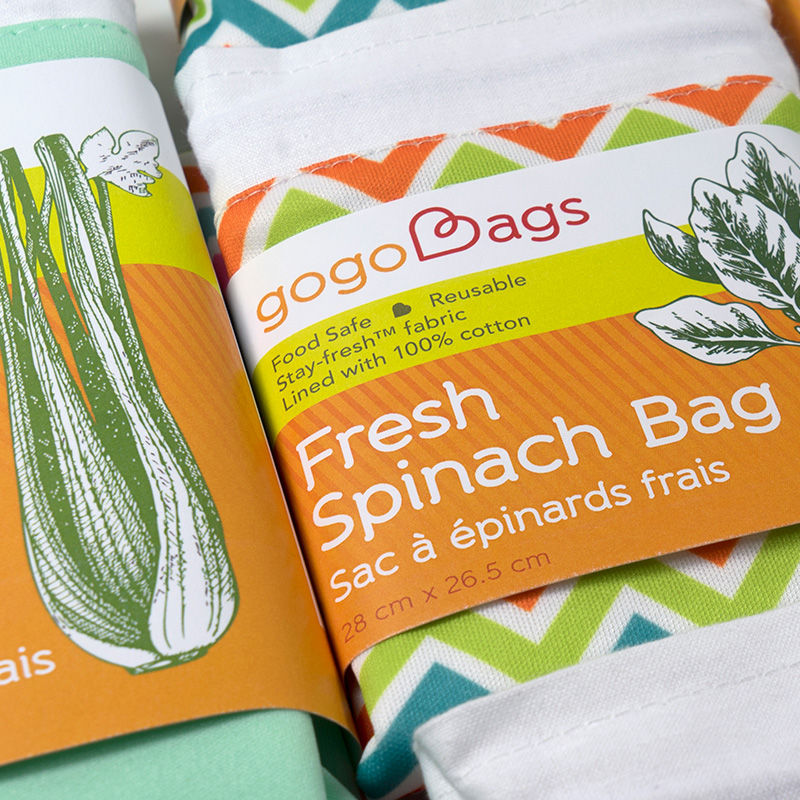 gogo bags packaging design