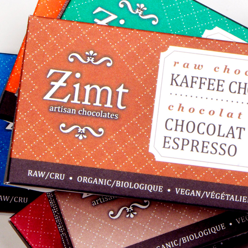 Zimt artisan chocolates packaging design