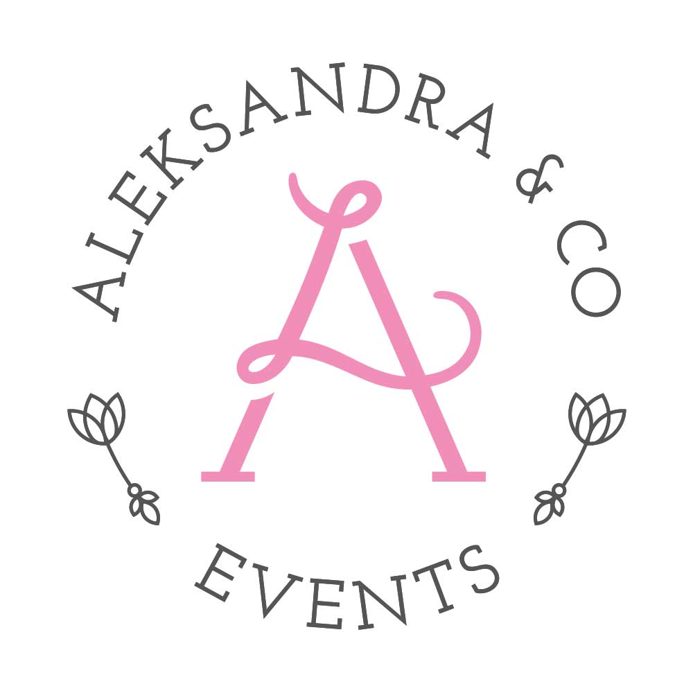 aleksandra & co events logo design