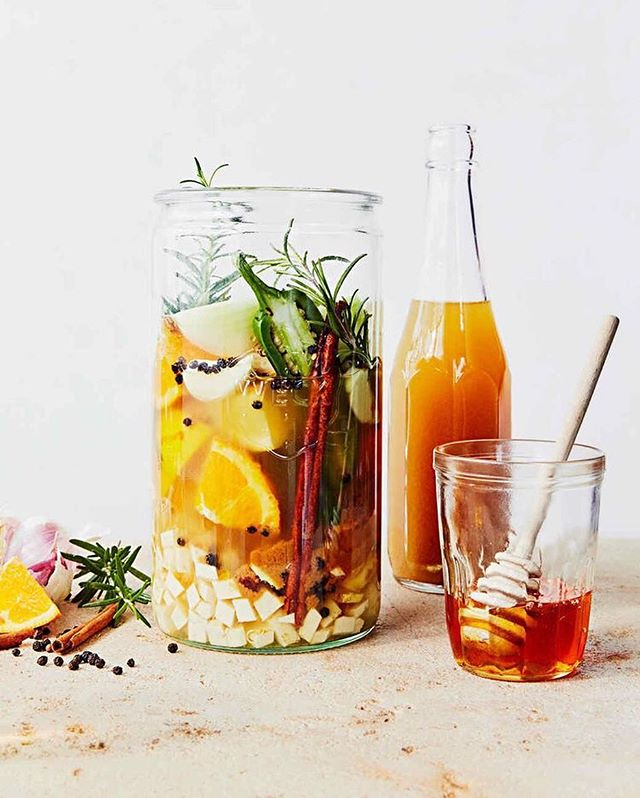 Fire Cider Tonic = my secret weapon. What's it good for? Just about everything, folks. It's especially great this time of year when our immune systems need a little TLC and our energy needs a little kick in the butt. Bottoms up! 🔥  Recipe is in my highlights and this gorgeous photo was found on Pinterest because mine looked like crap.