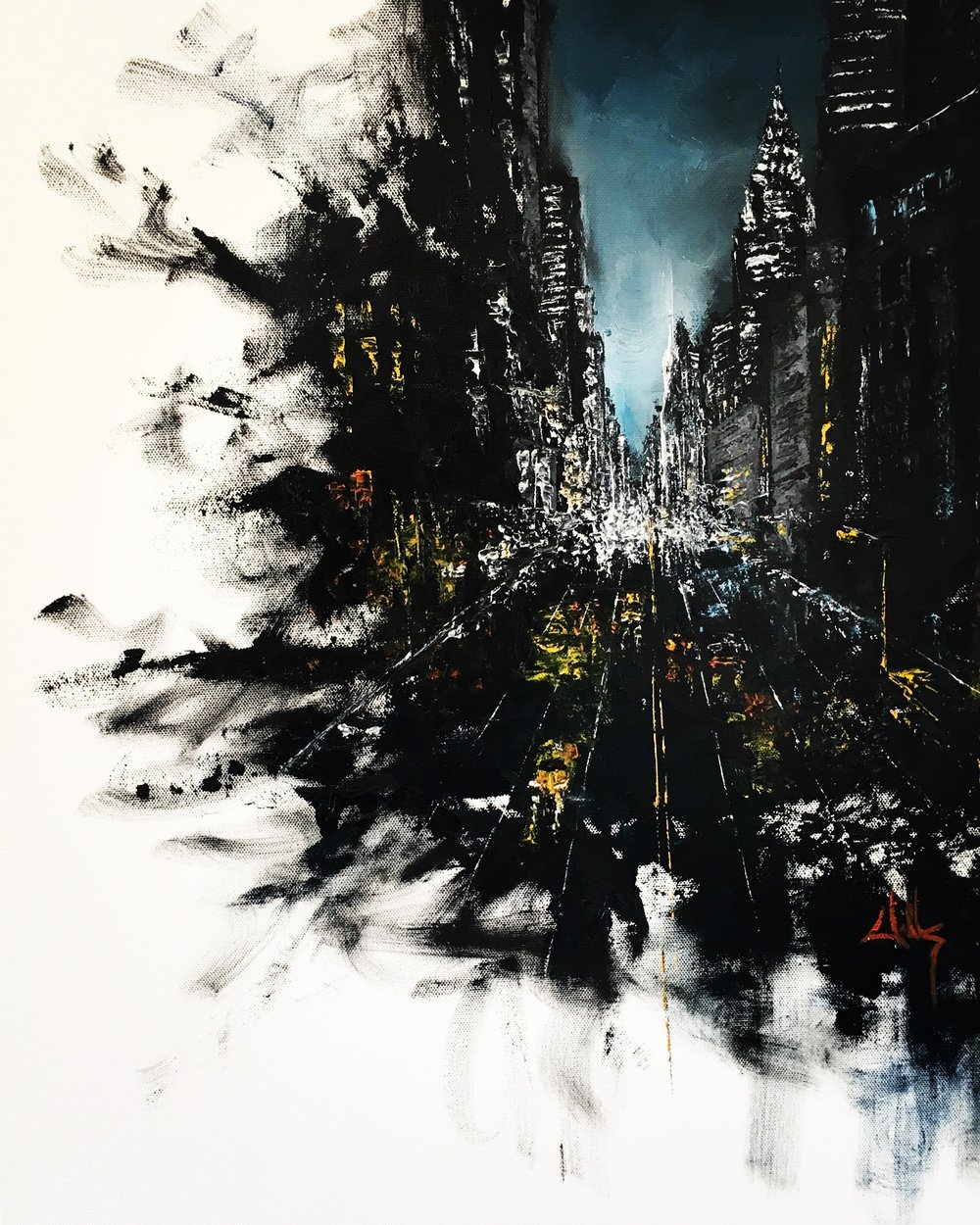 NYC  Oil on Canvas  18x24  $300