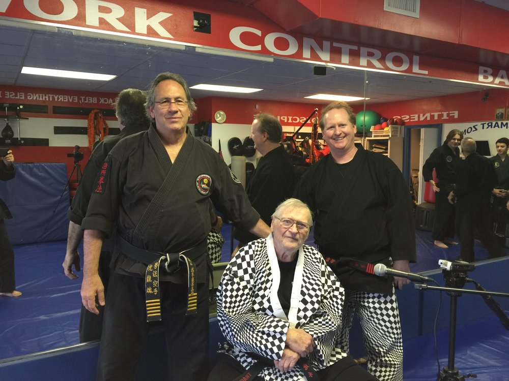Grand Master Master Al Tracy, son Master Mark Tracy and Master Roy Abramowitz at Elite defensive Tactics