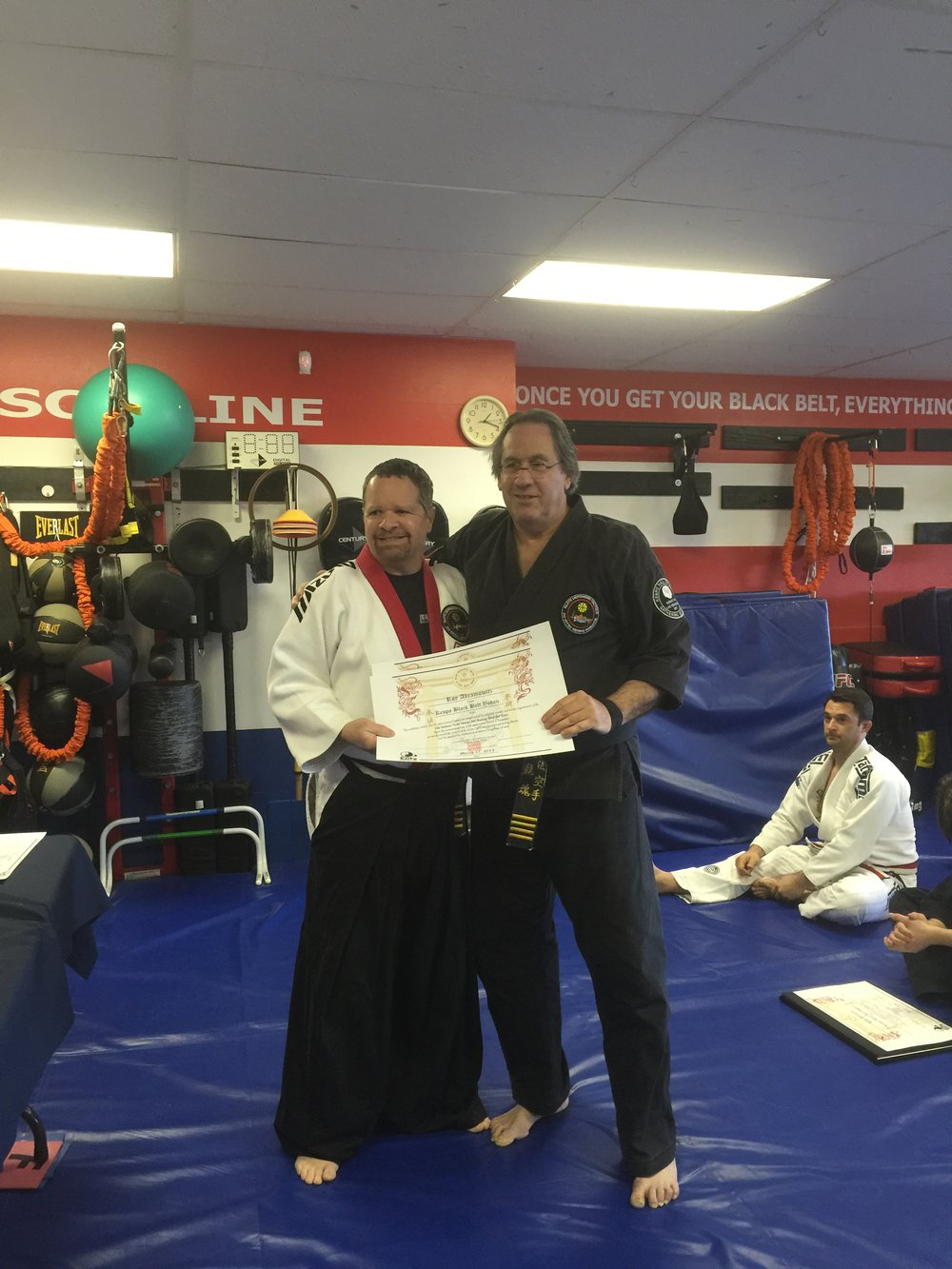 Promotion to 5th Black by master Gary Gione