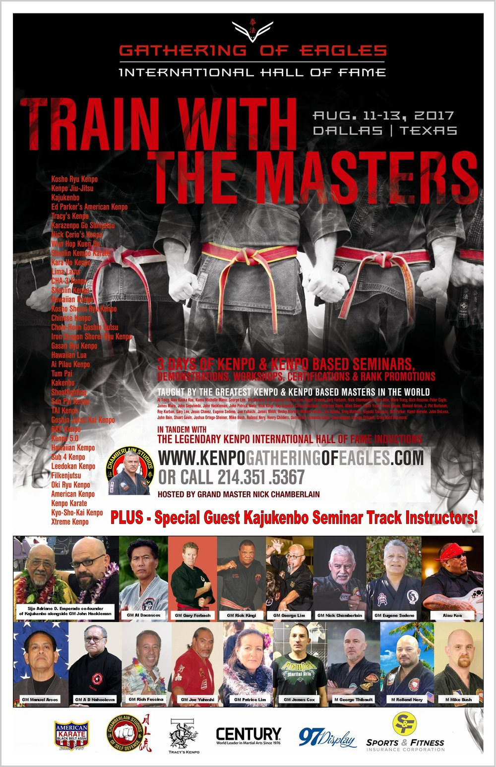 Kajukenbo Track Instructor Flyer