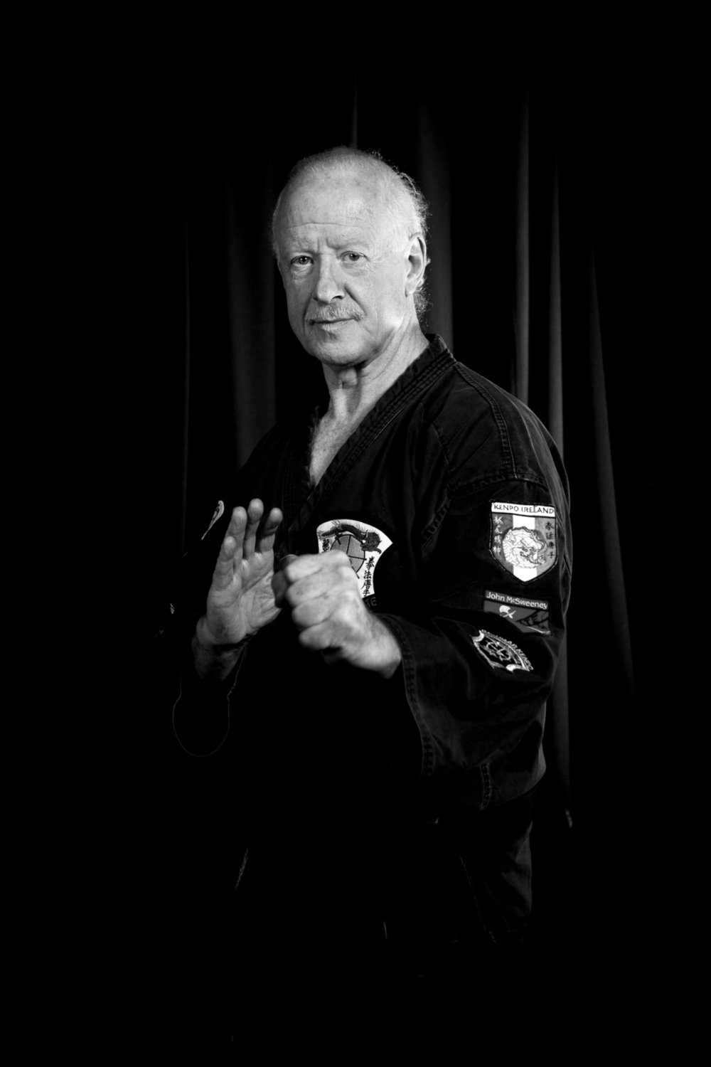 GM Peter Coyle -10th Degree Black Belt.   European Director, International Kenpo Yudanshakai.  President of the Irish Karate Association.  President of ONAKAI (National Governing Body for Karate in Ireland).