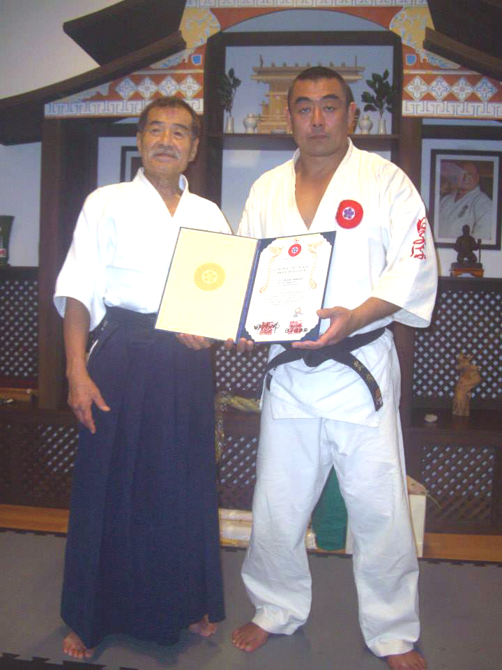 Soke Koshiro Tanaka &Shihan Kiyoshi Takeuchi of Hico Ryu Taijutsu