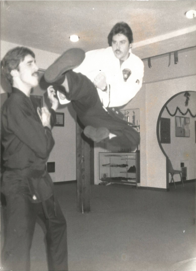 GM Steve Shover with a flying side kick