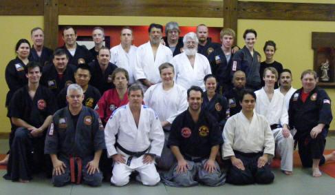 New Years Day workout and O-Soji at Chamberlain Studios, Dallas, Texas. Masters: Chamberlain, Webb, Nolan, Schutt