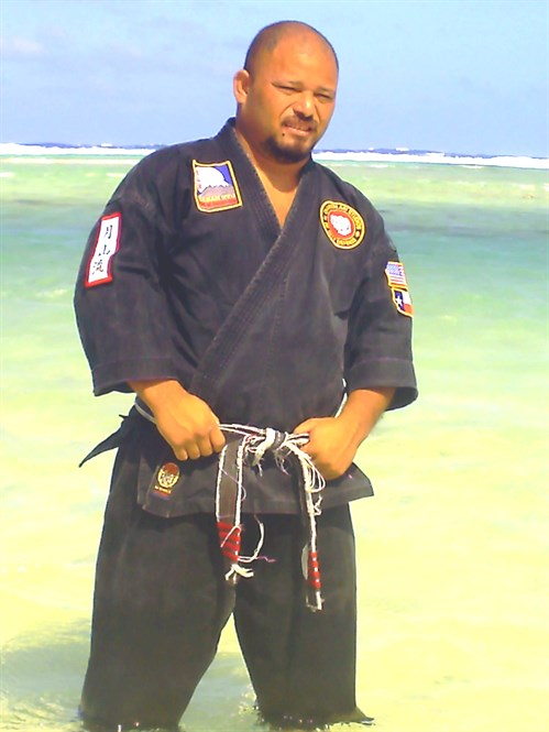 Master Nery on the beach of his homeland in the Federated States of Micronesia on the island of Mog Mog