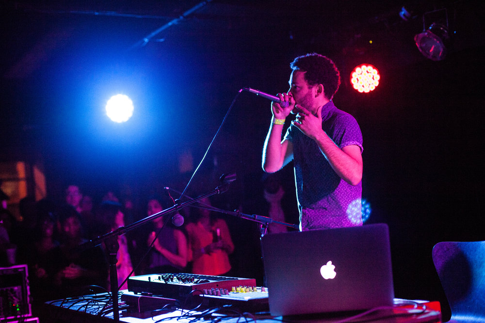 Taylor McFerrin performing at The 'Sco on November 12th, 2015. Photo by Bryan Rubin, Photo editor of  The Oberlin Review.