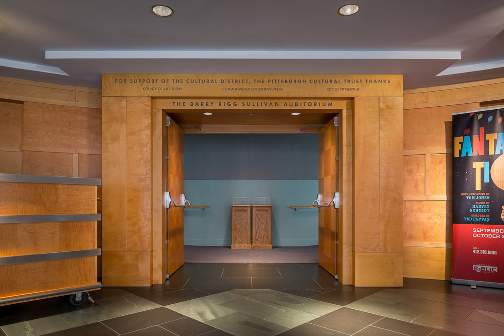 Main auditorium entrance, O'Reilly Theater - Pittsburgh, PA - Michael Graves Architecture & Design