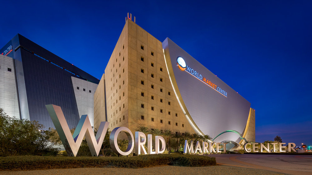 Exterior of the World Market Center, Las Vegas, NV
