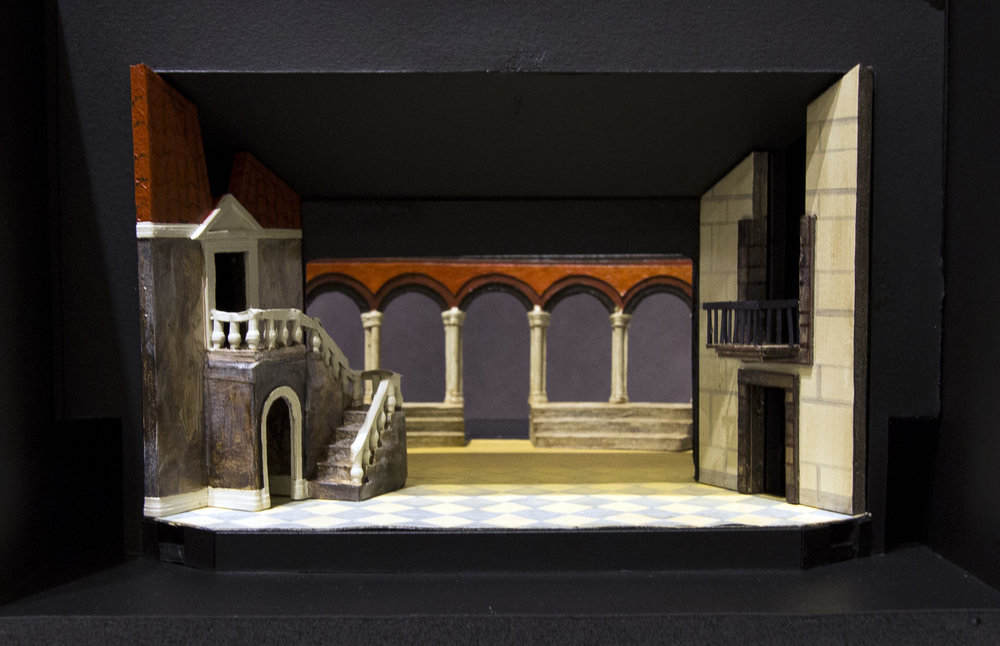 "1/4"" Scale  Stuart Theater, Brown University"