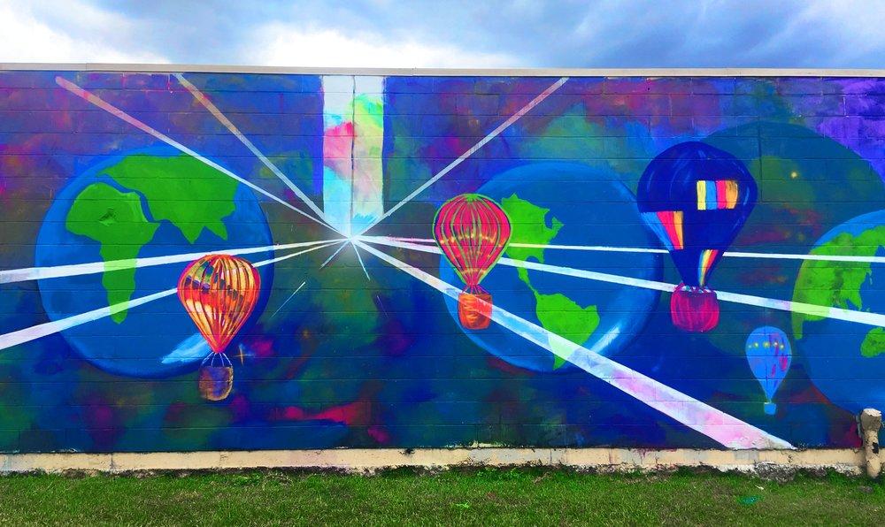 Houston Street Art - Mural at 7001 Mullins Drive