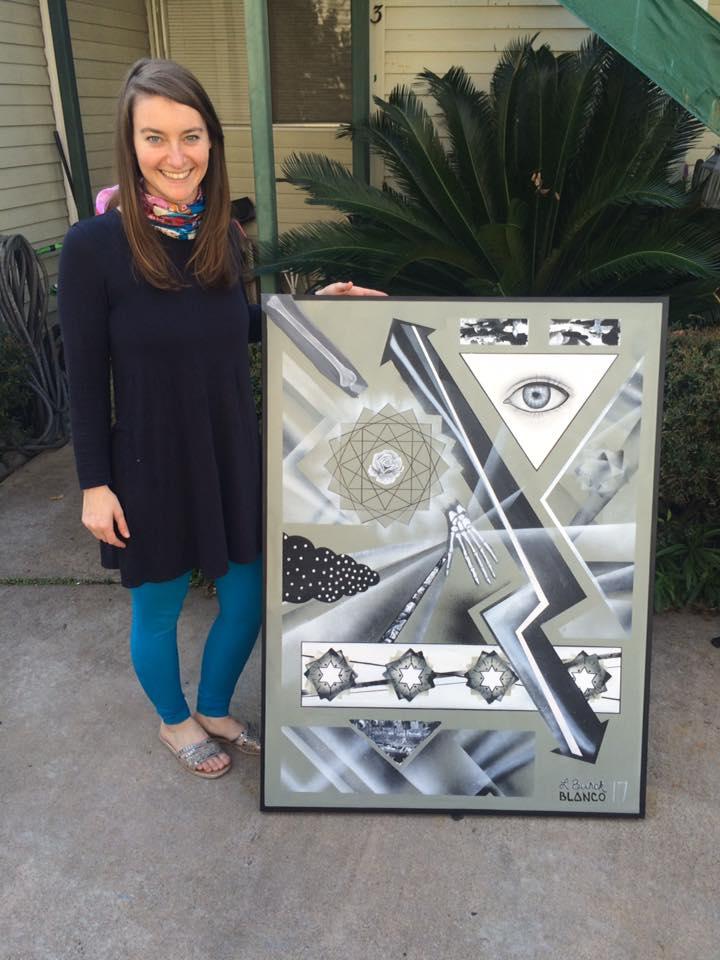 Sylvia Blanco and Lindsay Burck Artistic Collaboration - Houston Painters