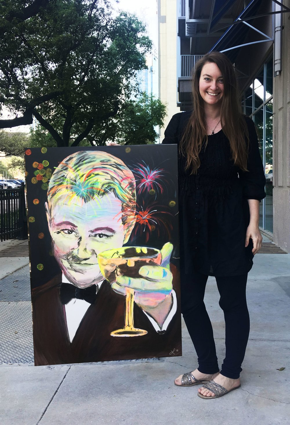 Cheers Old Sport - Painting - The Great Gatsby - Commission in Houston Texas