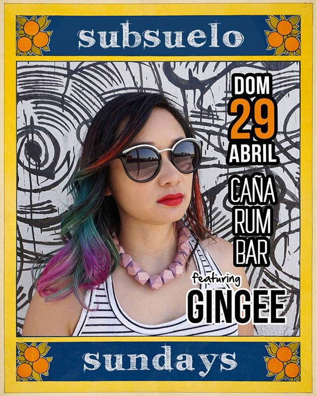 Local heroes @gingeeworld and @anthonyvaladez celebrating our first #SubsueloSundays of the year today with us at @canarumbarla ❤️❤️ two of our favorite DJs in LA 🍊🌴🔊3pm til sunset
