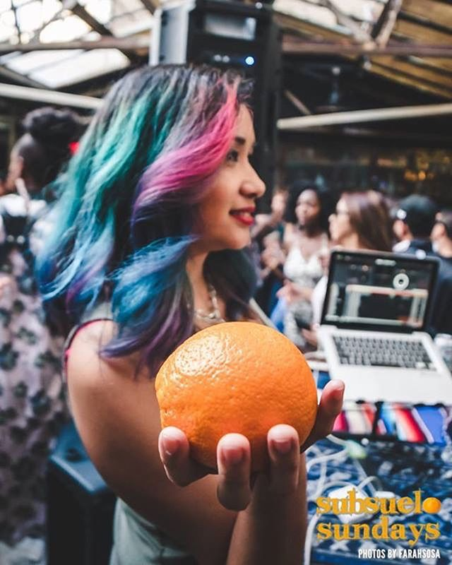 🍊🍊🍊🍊🍊🍊 #subsuelosundays 3pm til Sunset this afternoon outside on the patio 🕶at @canarumbarla we coming fresh with it today @djbembona and @deejaytheory 🌴photo by @farahstop of our special guest @gingeeworld last week ☀️ see you soon erybody