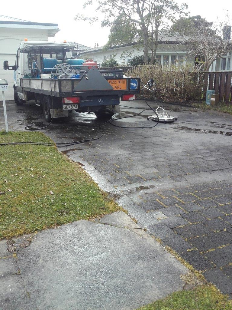 Driveway pavers before