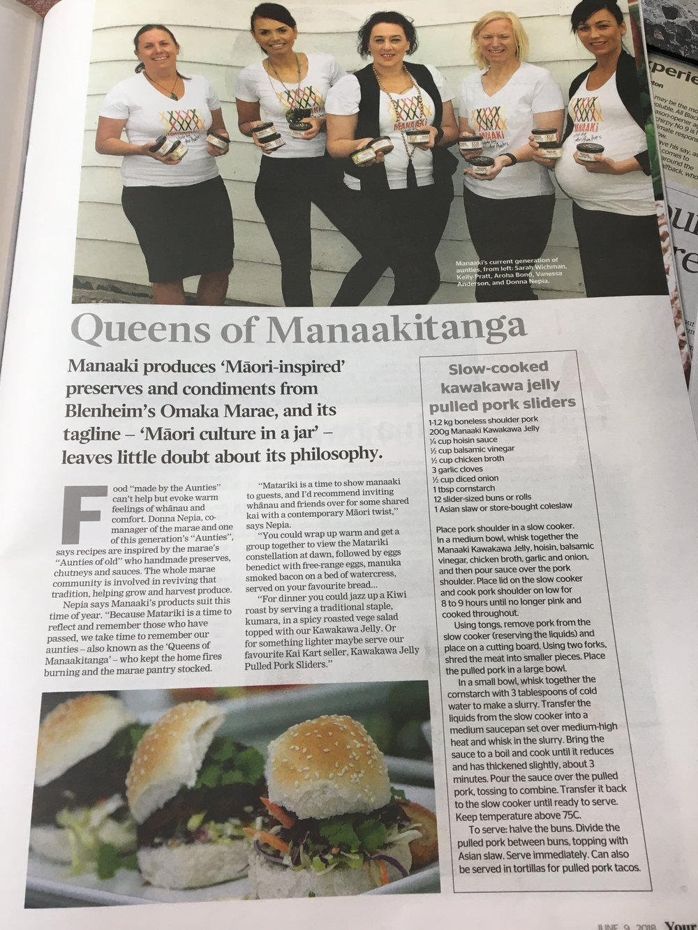Manaaki in the Dominion Post for Matariki.jpg