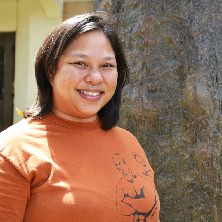 Sainan Diseha  |  Donna Cruz    Chamoru Immersion Educator, Preschool Asst. Director    Over 10 years of advocacy in the Chamoru language and culture, Early Childhood Education Major, Weaver