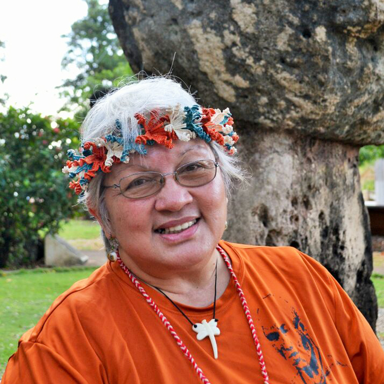 "Sainan   Minetgot  |  Theresa ""Ewy"" Taitano    Chamoru Immersion Educator,      Curriculum Writer, Translator    Performing Artist, PIBBA Member, Lion's Club Member"