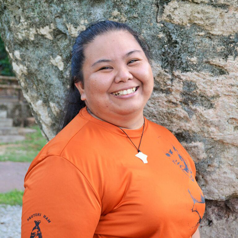 Che'lon Lumuhu  |  April Quichocho    Pineksai-Chamoru Immersion Educator    Chamoru Speaker, Assistant, Mt. Carmel Parish