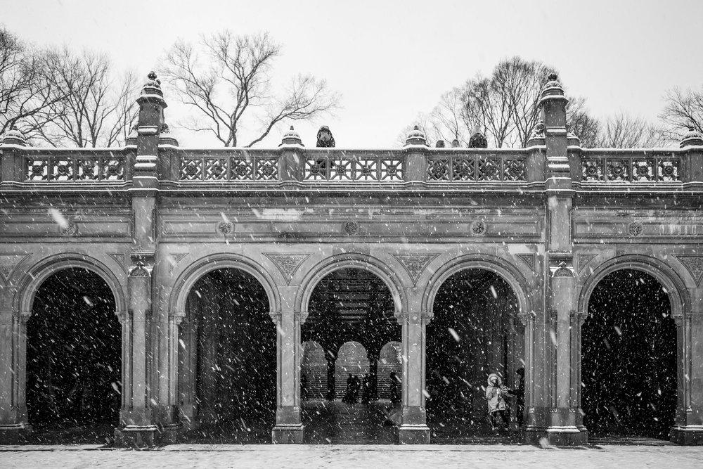 Bethesda Terrace in winter