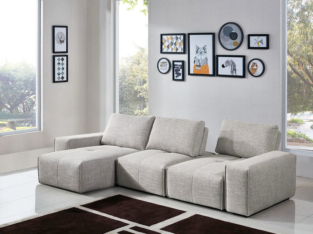 5PC Configuration (2 x Armless Chair, 2 x Arm, Chaise)