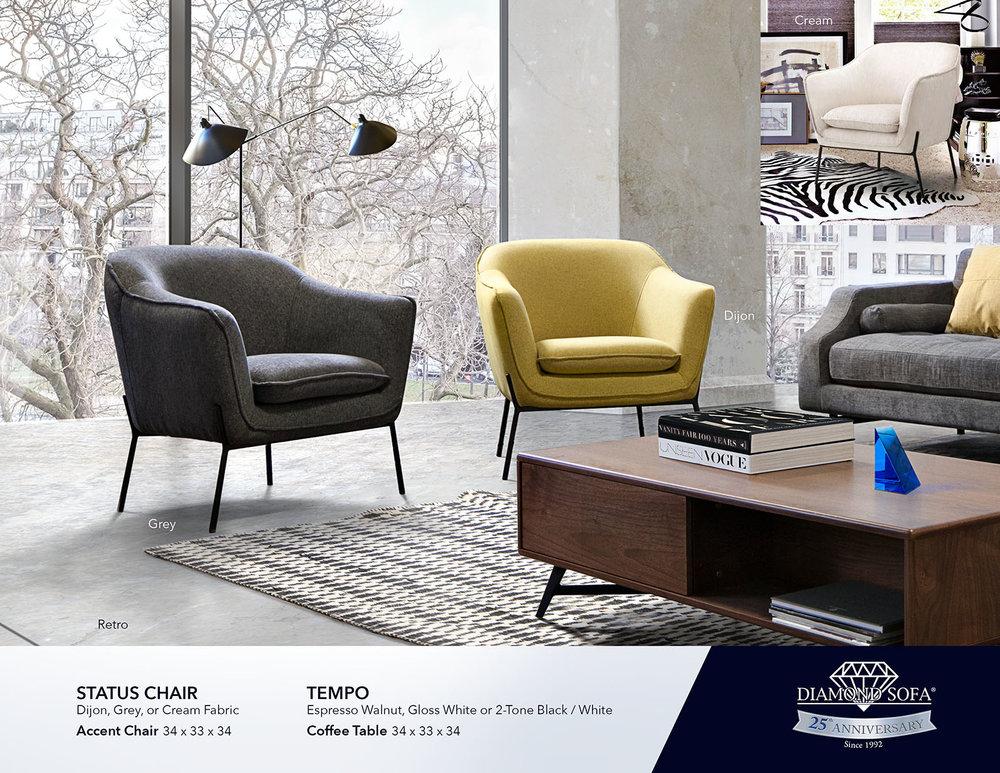 Accent Chairs Diamond Sofa