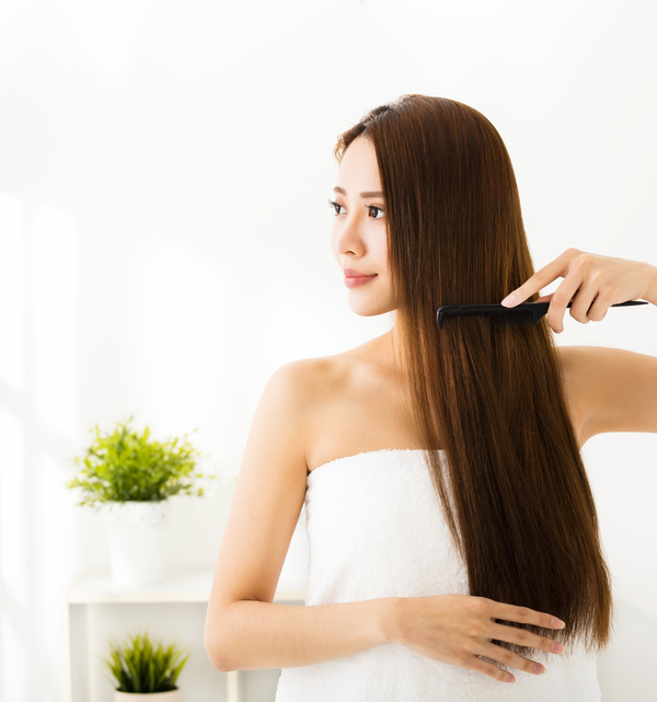 prp hair regrowth woman