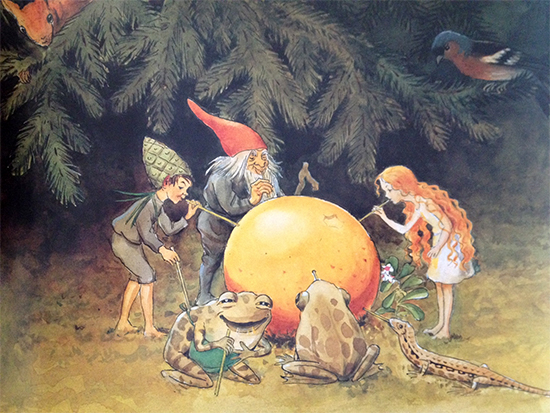 Illustration from The Sun Egg by Elsa Beskow
