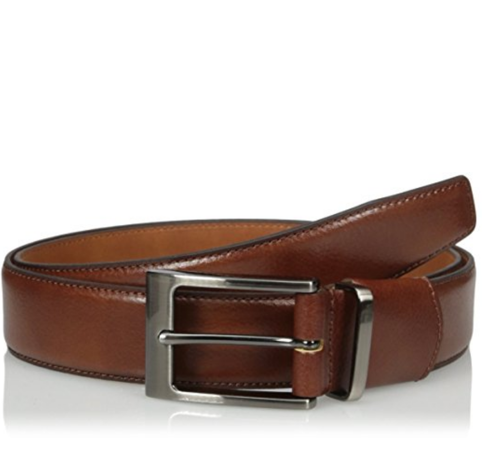 VAN HEUSEN'S MEN'S LEATHER FLEX COMFORT $19.29 - $22.00    I've seen many variations on this belt, but I like the way this leather belt looks. It's affordable, but it doesn't look cheap. I suggest this belt when someone is gaining and loosing weight due to medication, also men with seated body types who use wheelchairs can really benefit from the extra elasticity for increased comfort.