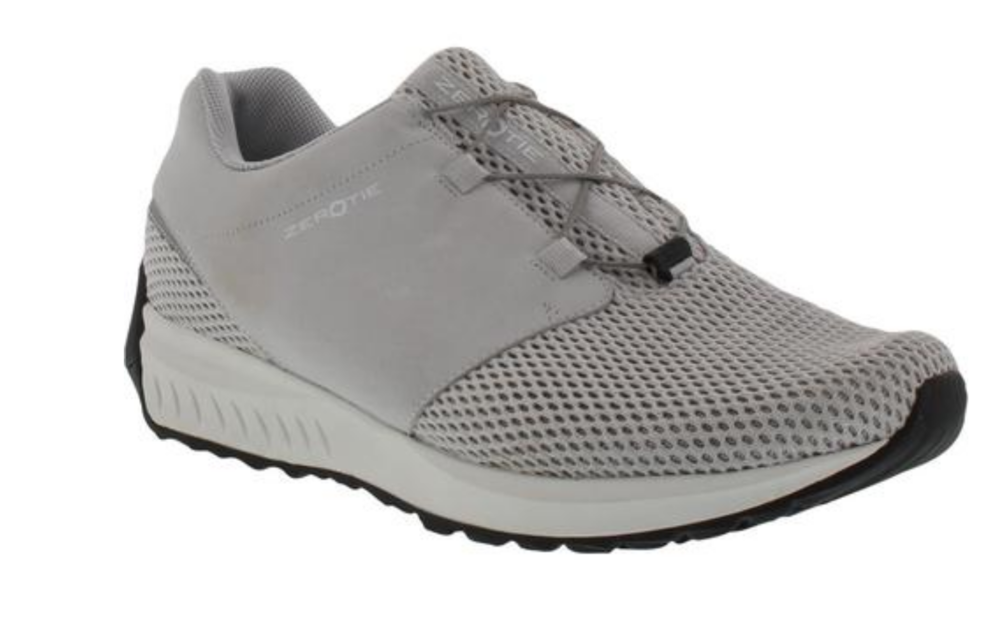 ZEROTIE   $69.00 - $189.00   Zerotie footwear allows for handsfree lacing. To lace shoes, step down, press, release, and repeat. Zerotie offers footwear for children, women, and men.