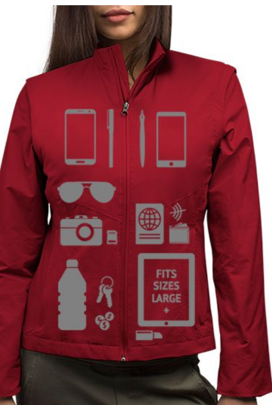 SCOTT E (WOMEN'S RIFD JACKET)    You may have seen the Scott E Vest Commericals. When I first saw the commercial I immediately thought about caregivers who are out and about with patients. I think this makes a great gift. It is a great way to carry medication, phone, water etc...while remaining hands-free. This jacket is $175.00, but prices vary, they also sell dresses, shirts and more.